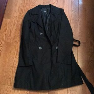 Mossimo Black Light Weight Trench Coat